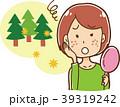 花粉症による肌荒れに困る女性のイラスト 39319242