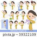 女性 着物 和服のイラスト 39322109