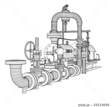 Wire-frame industrial pump 39324699