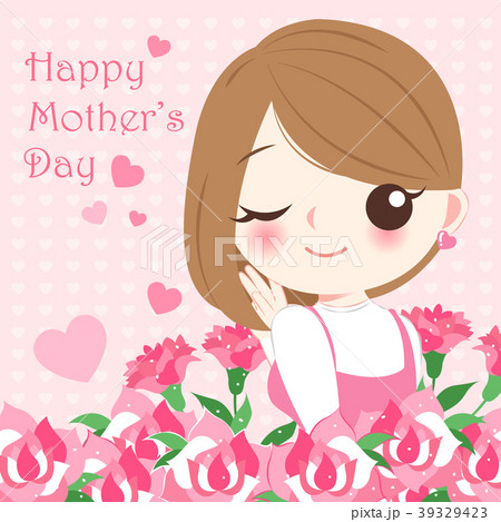 cartoon happy mother day 39329423