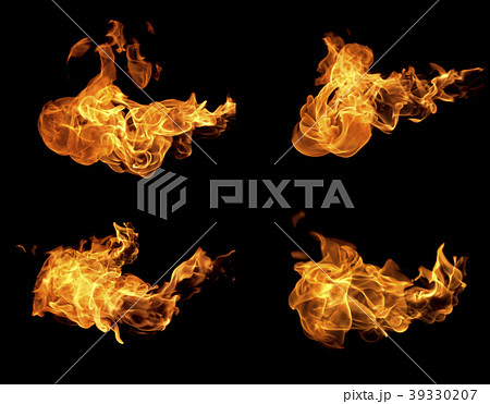 Fire flames collection 39330207