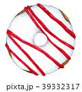 水彩画 ドーナツ いちごのイラスト 39332317