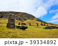 イースター島 モアイ モアイ像の写真 39334892