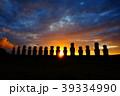 イースター島 モアイ モアイ像の写真 39334990