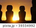 イースター島 モアイ モアイ像の写真 39334992