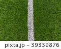 人工芝と直線ライン 39339876