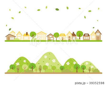 新緑の季節の風景 バナー素材セット 39352598