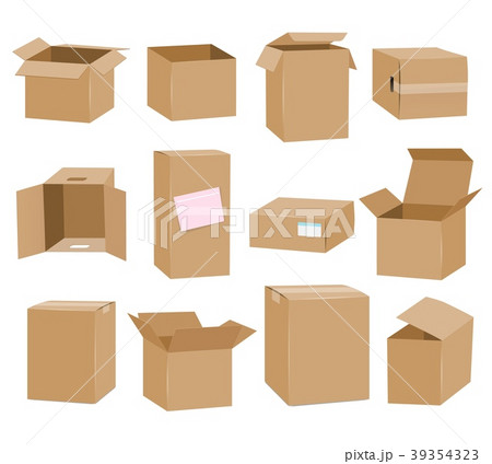 Cardboard boxes isolated on white background 39354323