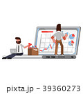 PC ノートパソコン コンピュータのイラスト 39360273