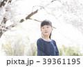 桜と女の子 39361195