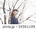 桜と女の子 39361199