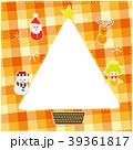 12月 チェック柄 フレームのイラスト 39361817