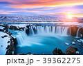 滝 アイスランド 夕日の写真 39362275