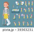 女性 ol 病気のイラスト 39363231
