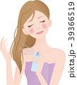 ヘアスプレー 女性 噴射のイラスト 39366519
