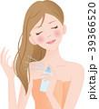 ヘアスプレー 女性 噴射のイラスト 39366520