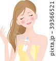 ヘアスプレー 女性 噴射のイラスト 39366521
