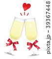 祝杯 乾杯 シャンパンのイラスト 39367448