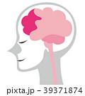 脳のイメージイラスト ボディグレー 39371874