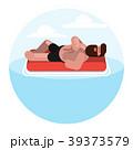 マットレス 敷蒲団 浮き輪のイラスト 39373579