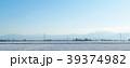 奥羽山脈と雪の田園風景 39374982