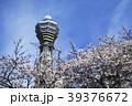 通天閣と桜 さくら サクラ 青空 咲く 春 季節 花見 39376672
