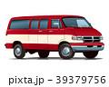 アメ車バン・レッドホワイト 39379756