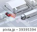 車間通信で幹線道路に合流するSUVがトラックとの出会い頭事故を回避。コネクテッドカーコンセプト 39395394