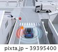 車間通信で幹線道路に合流するSUVがミニバンとの出会い頭事故を回避。コネクテッドカーコンセプト 39395400