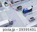 交差点にクルマ同士が無線通信でスムーズな交通環境を維持する。コネクテッドカーコンセプト 39395401