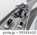 自動運転 タクシー ドローンのイラスト 39395420