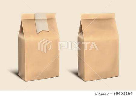 blank paper bag templateのイラスト素材 39403164 pixta