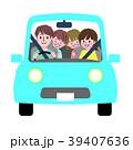 ドライブ 家族 白バックのイラスト 39407636