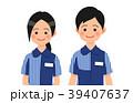 コンビニ店員の男女 39407637
