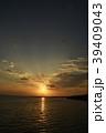 黒島の夜明け 日の出 黒島 竹富町 八重山 離島 南国 自然 風景 海 アウトドア レジャー 39409043