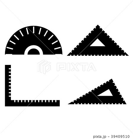 定規 分度器 三角定規 L型定規 イラスト アイコンのイラスト素材