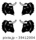 動物 雄牛 ベクタのイラスト 39412004