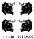 動物 雄牛 ベクタのイラスト 39412005