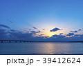 沖縄県 宮古島 伊良部大橋の夕景 39412624