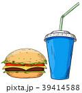 ドリンク ハンバーガー バーガーのイラスト 39414588