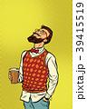 ヒップスター コーヒー ドリンクのイラスト 39415519