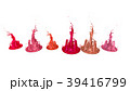 paints dance on white background. Simulation of 3d 39416799