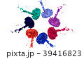 paints dance on white background. Simulation of 3d 39416823