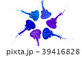 paints dance on white background. Simulation of 3d 39416828