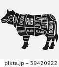 ウシ 牛 動物のイラスト 39420922