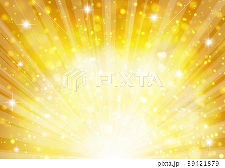 ゴールド放射状キラキラした背景 39421879