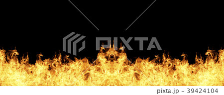 Fire flames on a black background 39424104
