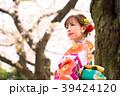 女性 和服 着物の写真 39424120