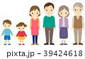 家族 三世代 セットのイラスト 39424618