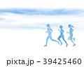 ランナー 水彩 手描き 39425460